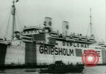 Image of Ship Gripsholm delivers Americans freed from internment by Germany New York City USA, 1944, second 13 stock footage video 65675021166