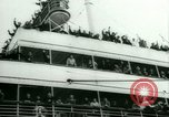 Image of Ship Gripsholm delivers Americans freed from internment by Germany New York City USA, 1944, second 14 stock footage video 65675021166