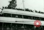 Image of Ship Gripsholm delivers Americans freed from internment by Germany New York City USA, 1944, second 15 stock footage video 65675021166