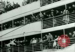 Image of Ship Gripsholm delivers Americans freed from internment by Germany New York City USA, 1944, second 20 stock footage video 65675021166