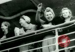 Image of Ship Gripsholm delivers Americans freed from internment by Germany New York City USA, 1944, second 21 stock footage video 65675021166