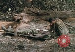 Image of wounded rescued by Huey helicopter South Vietnam, 1967, second 43 stock footage video 65675021192