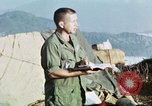 Image of U.S. army chaplain leads service Vietnam, 1968, second 34 stock footage video 65675021201