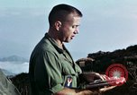 Image of U.S. army chaplain leads service Vietnam, 1968, second 50 stock footage video 65675021201