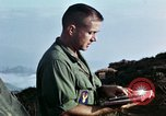 Image of U.S. army chaplain leads service Vietnam, 1968, second 51 stock footage video 65675021201