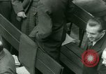 Image of Otto Ohlendorf plea war crimes trial Nuremberg Germany, 1948, second 19 stock footage video 65675021233