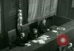 Image of Otto Ohlendorf plea war crimes trial Nuremberg Germany, 1948, second 38 stock footage video 65675021233