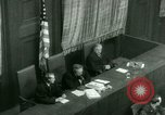 Image of Otto Ohlendorf plea war crimes trial Nuremberg Germany, 1948, second 40 stock footage video 65675021233