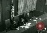 Image of Otto Ohlendorf plea war crimes trial Nuremberg Germany, 1948, second 42 stock footage video 65675021233