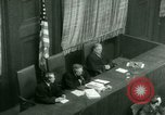 Image of Otto Ohlendorf plea war crimes trial Nuremberg Germany, 1948, second 43 stock footage video 65675021233