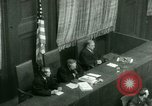 Image of Otto Ohlendorf plea war crimes trial Nuremberg Germany, 1948, second 45 stock footage video 65675021233