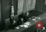 Image of Otto Ohlendorf plea war crimes trial Nuremberg Germany, 1948, second 46 stock footage video 65675021233