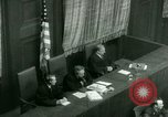 Image of Otto Ohlendorf plea war crimes trial Nuremberg Germany, 1948, second 47 stock footage video 65675021233