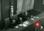 Image of Otto Ohlendorf plea war crimes trial Nuremberg Germany, 1948, second 50 stock footage video 65675021233