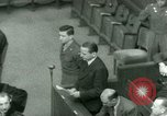 Image of Otto Ohlendorf plea war crimes trial Nuremberg Germany, 1948, second 53 stock footage video 65675021233