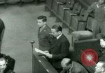 Image of Otto Ohlendorf plea war crimes trial Nuremberg Germany, 1948, second 54 stock footage video 65675021233