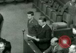 Image of Otto Ohlendorf plea war crimes trial Nuremberg Germany, 1948, second 55 stock footage video 65675021233