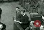 Image of Otto Ohlendorf plea war crimes trial Nuremberg Germany, 1948, second 56 stock footage video 65675021233