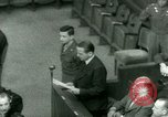 Image of Otto Ohlendorf plea war crimes trial Nuremberg Germany, 1948, second 57 stock footage video 65675021233