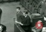 Image of Otto Ohlendorf plea war crimes trial Nuremberg Germany, 1948, second 58 stock footage video 65675021233
