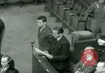 Image of Otto Ohlendorf plea war crimes trial Nuremberg Germany, 1948, second 61 stock footage video 65675021233