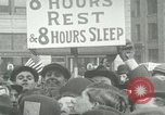 Image of American workers protest labor conditions United States USA, 1963, second 6 stock footage video 65675021237