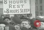 Image of American workers protest labor conditions United States USA, 1963, second 7 stock footage video 65675021237