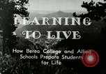 Image of the Berea College Berea Kentucky United States USA, 1933, second 11 stock footage video 65675021239
