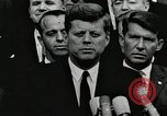 Image of John Fitzgerald Kennedy presentation to Major Cooper United States USA, 1963, second 1 stock footage video 65675021468