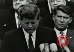 Image of John Fitzgerald Kennedy presentation to Major Cooper United States USA, 1963, second 2 stock footage video 65675021468