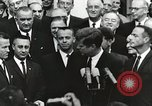 Image of John Fitzgerald Kennedy presentation to Major Cooper United States USA, 1963, second 6 stock footage video 65675021468