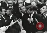 Image of John Fitzgerald Kennedy presentation to Major Cooper United States USA, 1963, second 9 stock footage video 65675021468