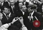 Image of John Fitzgerald Kennedy presentation to Major Cooper United States USA, 1963, second 10 stock footage video 65675021468