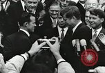 Image of John Fitzgerald Kennedy presentation to Major Cooper United States USA, 1963, second 17 stock footage video 65675021468