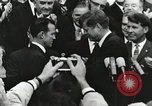 Image of John Fitzgerald Kennedy presentation to Major Cooper United States USA, 1963, second 18 stock footage video 65675021468