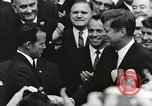 Image of John Fitzgerald Kennedy presentation to Major Cooper United States USA, 1963, second 24 stock footage video 65675021468