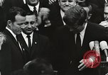 Image of John Fitzgerald Kennedy presentation to Major Cooper United States USA, 1963, second 30 stock footage video 65675021468