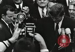 Image of John Fitzgerald Kennedy presentation to Major Cooper United States USA, 1963, second 32 stock footage video 65675021468