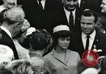 Image of John Fitzgerald Kennedy presentation to Major Cooper United States USA, 1963, second 57 stock footage video 65675021468