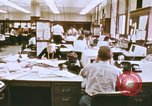 Image of Use of early computers in newspaper production Detroit Michigan USA, 1974, second 10 stock footage video 65675021551