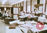 Image of Use of early computers in newspaper production Detroit Michigan USA, 1974, second 16 stock footage video 65675021551