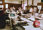 Image of Use of early computers in newspaper production Detroit Michigan USA, 1974, second 31 stock footage video 65675021551