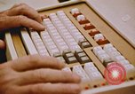 Image of Use of early computers in newspaper production Detroit Michigan USA, 1974, second 51 stock footage video 65675021551