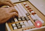 Image of Use of early computers in newspaper production Detroit Michigan USA, 1974, second 53 stock footage video 65675021551