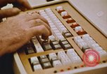 Image of Use of early computers in newspaper production Detroit Michigan USA, 1974, second 54 stock footage video 65675021551