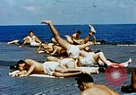 Image of food and medical services aboard USS Yorktown World War 2 Pacific Ocean, 1943, second 15 stock footage video 65675021555