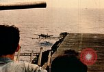 Image of burial at sea aboard USS Yorktown in World War  Pacific Theater, 1944, second 20 stock footage video 65675021567