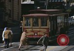 Image of cable cars of San Francisco San Francisco California USA, 1968, second 24 stock footage video 65675021684