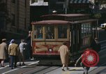 Image of cable cars of San Francisco San Francisco California USA, 1968, second 25 stock footage video 65675021684