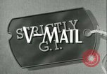 Image of V-mail handling World War 2 United States USA, 1943, second 4 stock footage video 65675021760